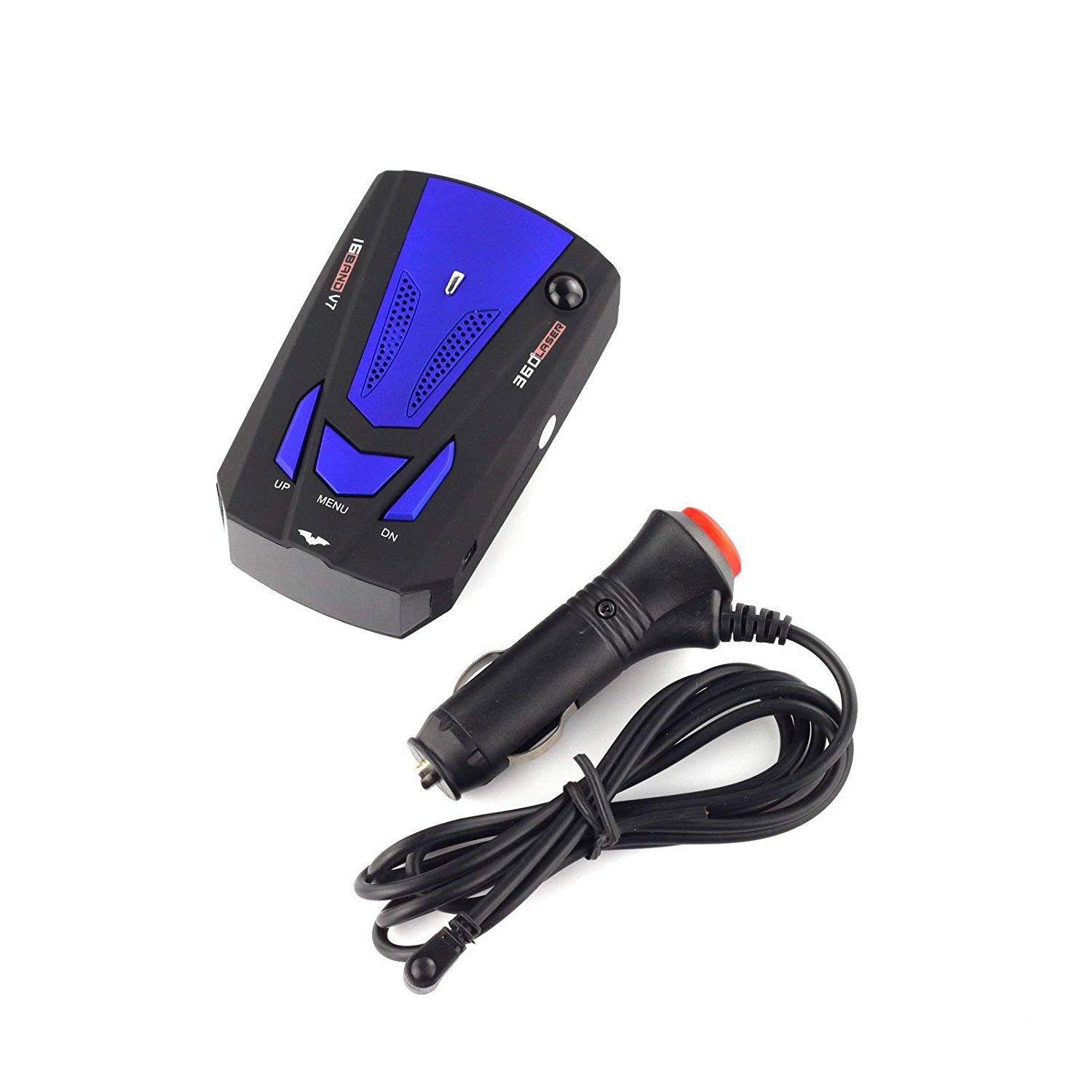 City//Highway Mode 360 Degree Detection Radar Detectors with LED Display for Cars Radar Detector FCC Approved Voice Alert and Car Speed Alarm System