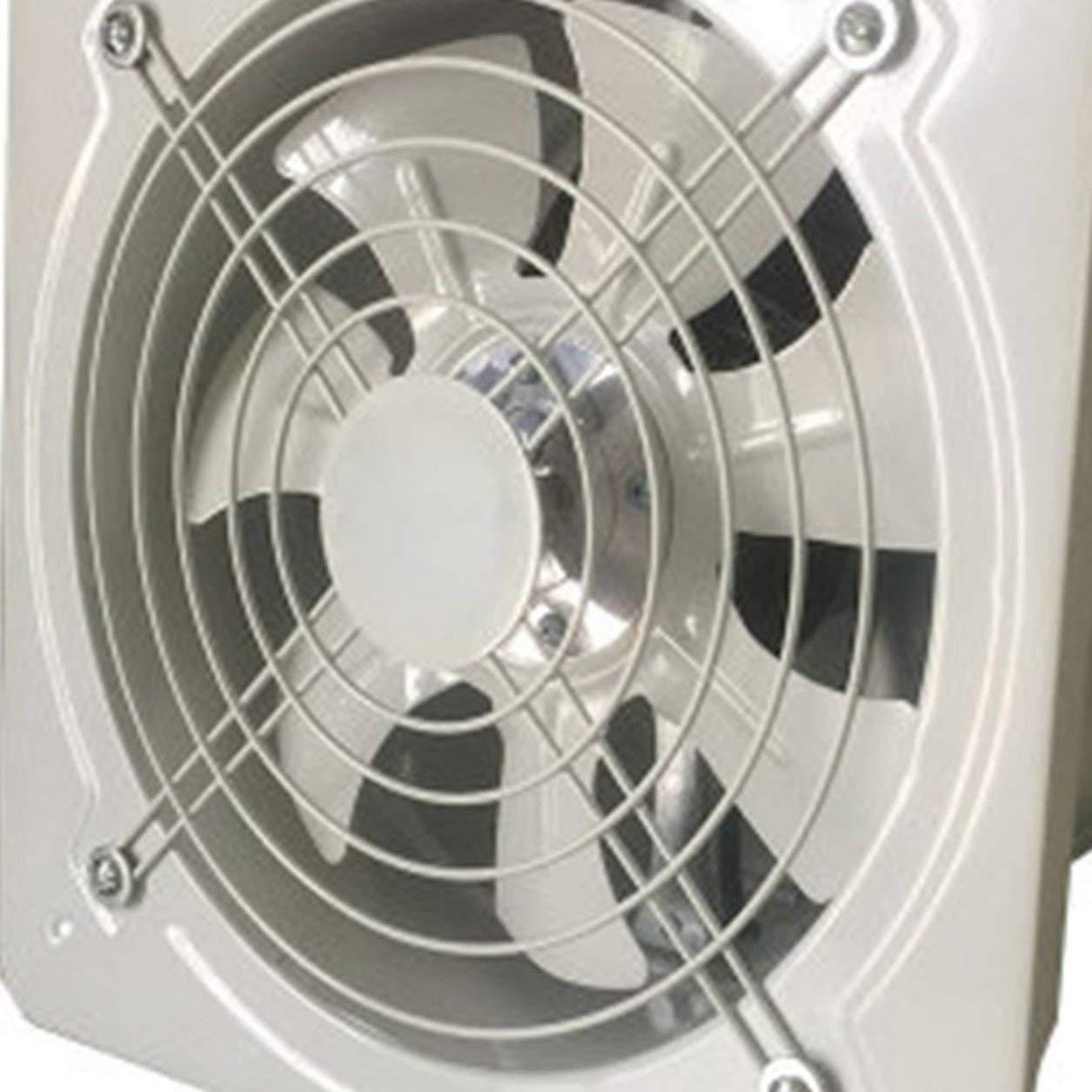 Blanco Dailyinshop Extractor de ventilaci/ón Industrial Metal Axial Extractor Ventilador de Aire Comercial Funcionamiento de bajo Ruido Estable