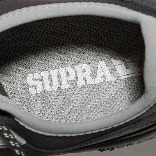 Supra Flow Køre Skate Sko Mørkegrå-lysegrå aEkc74Xsr