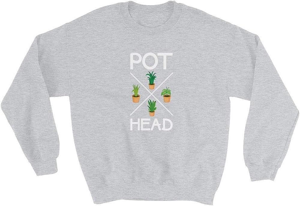 Succulents Growing Gardens Sweatshirt Gift Gardener Vegetable Botany Potted Plants Pot Head Plant Lover