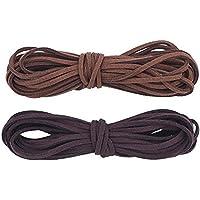 ULTNICE 2Pieces cordón colgante de cuero para el