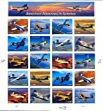 American Advances in Aviation, Full Sheet of 20 x 37-Cent Postage Stamps, USA 2005, Scott 3916-25