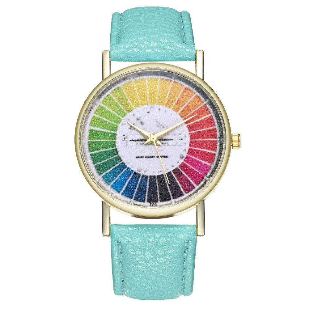 Damen Uhr Analog Quarz mit Armband Gelb