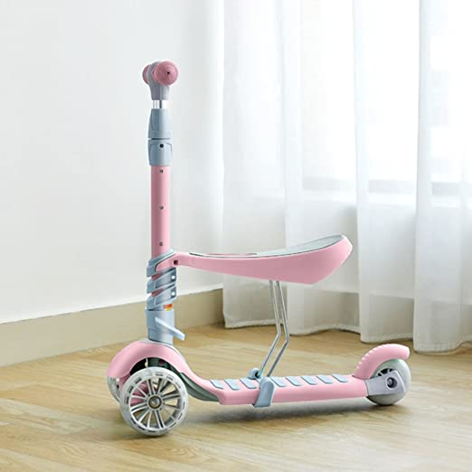 FLy Patinete En 3 Ruedas Ajustable En Altura - Scooter para ...