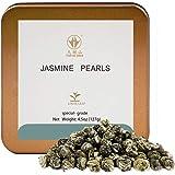 TIAN HU SHAN Special Grade Jasmine Dragon Pearls Green Tea Loose Leaf 4oz (114g) Tin