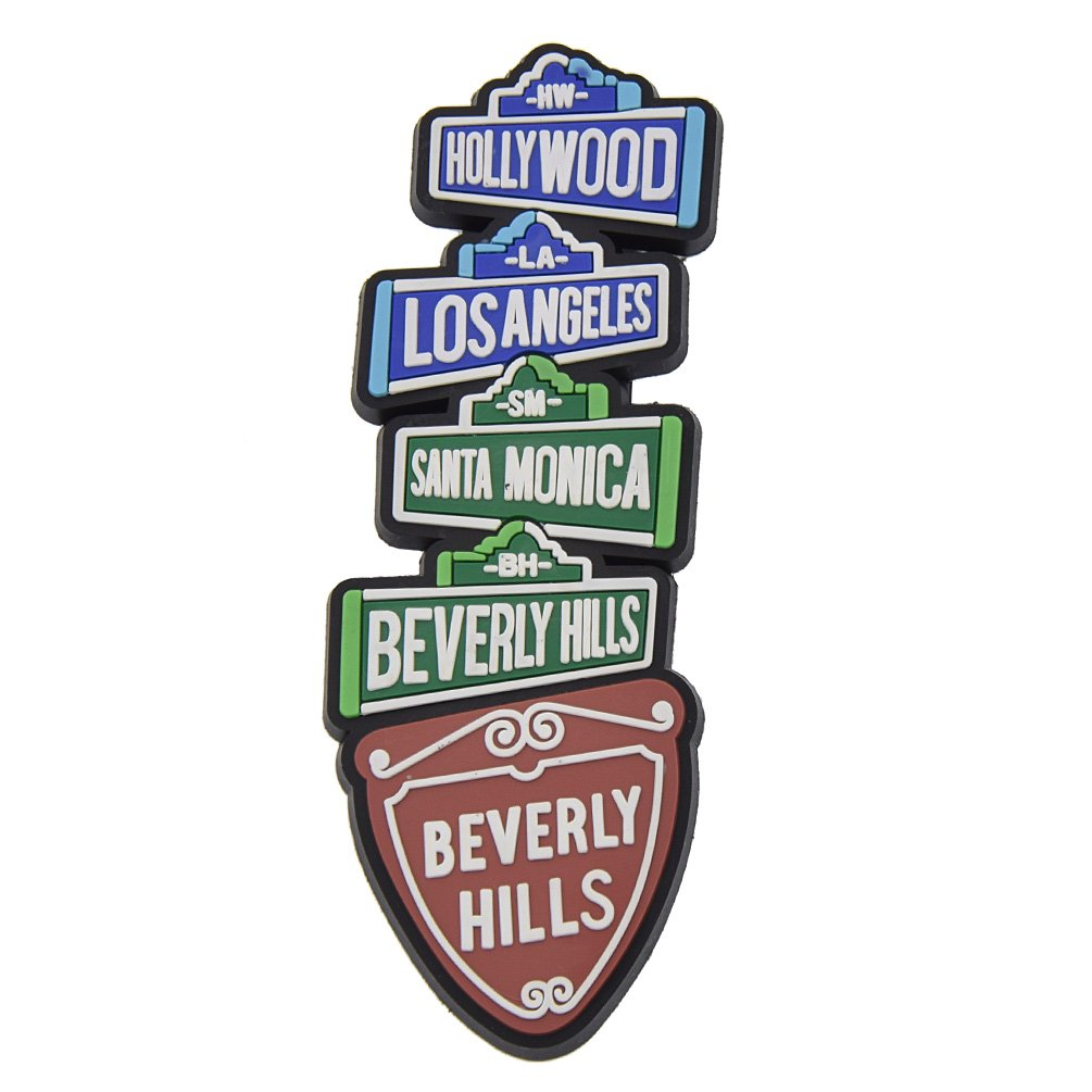 KOZOREN Hollywood Rubber Fridge Magnet Beverly Hills Los Angeles Santa Monica USA Landmarks Tourist Travel Souvenir