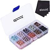 1000 Piezas 4 mm Bolas de Cristal de Redondo Abalorios Bolas con Caja para Fabricación de Joyas, Colores Mezclados