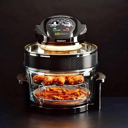 Opinión sobre Triple poder de cocción Mo salud baja grasa freidora de aire Browning, asado y mejora de sabor Cocina Fabulosas comidas en casa.
