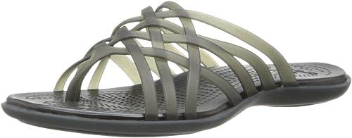 Crocs Women's Huarache Flip-Flop, Black