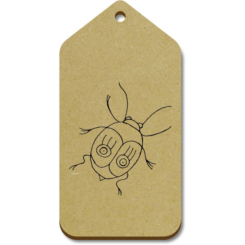 Azeeda 10 x Grand 'Scarabée' etiquettes de Bagage / Cadeau en Bois (TG00068988)