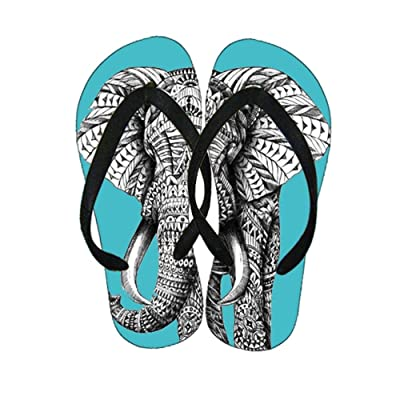 Abs For Slippers Unusual For Men Have With Colorful Elephant Drawing 2