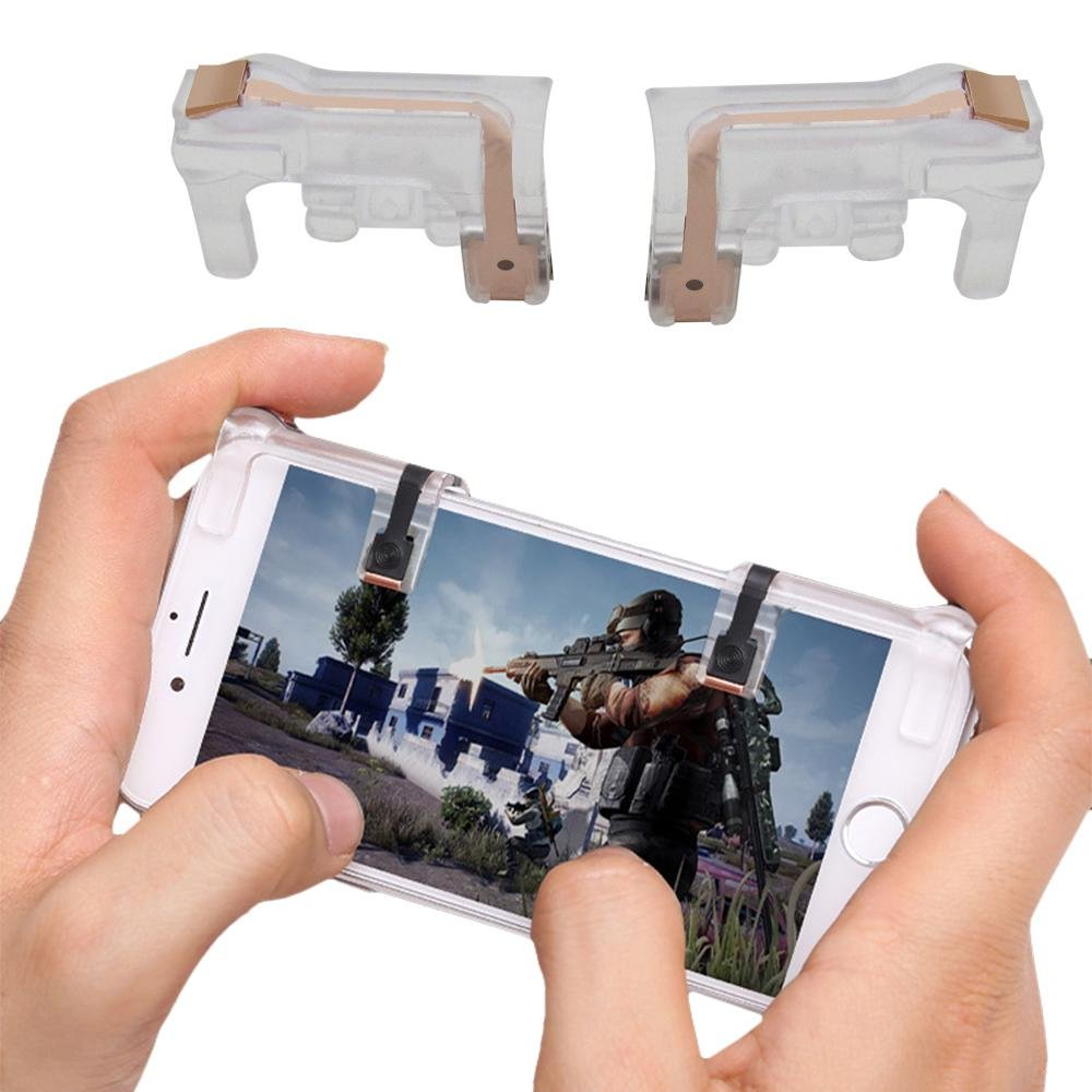 PUBG Game Controller, Foonee L1R1 Aim Buttons for PUBG Mobile/Knives Out/Fortnite Mobile/Rules of Survival, Mobile Game Controller for Android iPhone.