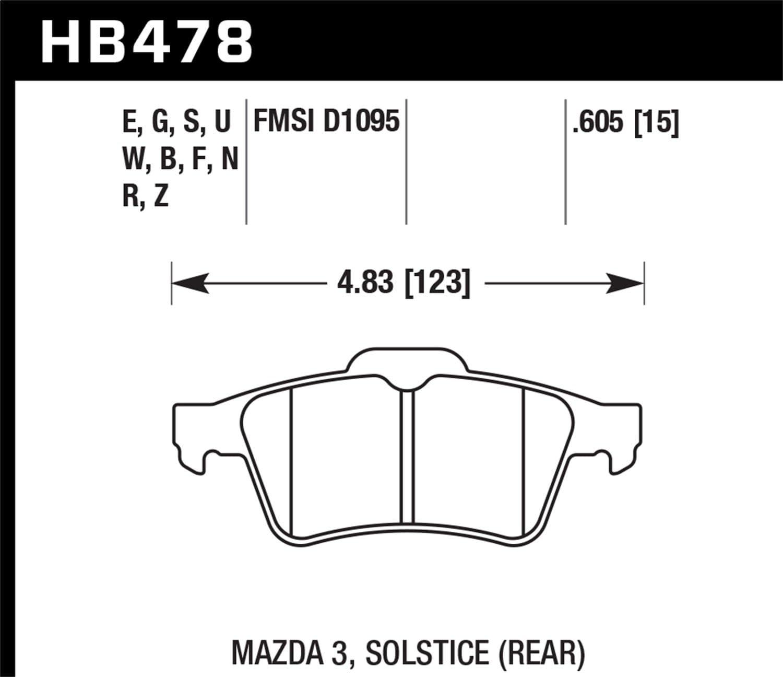 Hawk Performance HB478N.605 HP Plus Brake Pad
