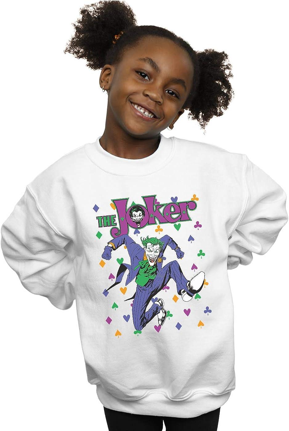 DC Comics Girls Batman Joker Cards Jump Sweatshirt