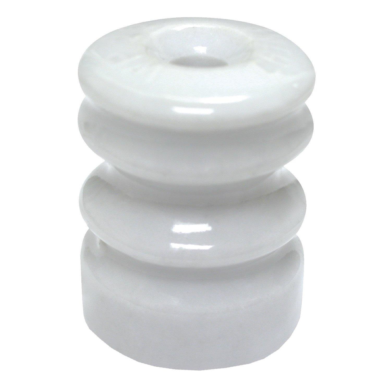 Zareba WP22E Multi-Groove Wood Post Ceramic Insulator with Nails