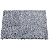 Image of Microfiber Area Rugs for Living Room Non Slip Bath Rug Pad (19.69'' x 31.5'', Grey)
