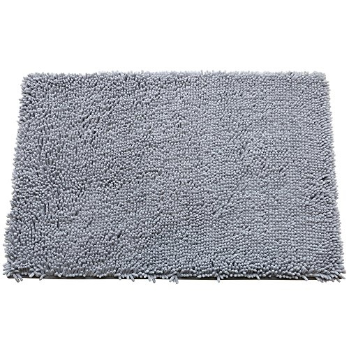 GRECUTE Bathroom Rug Mat (32'' x 20''), Microfiber Rug, Soft Absorbent Shaggy Rug, Plush Carpet Mats for Tub, Shower and Bath ()