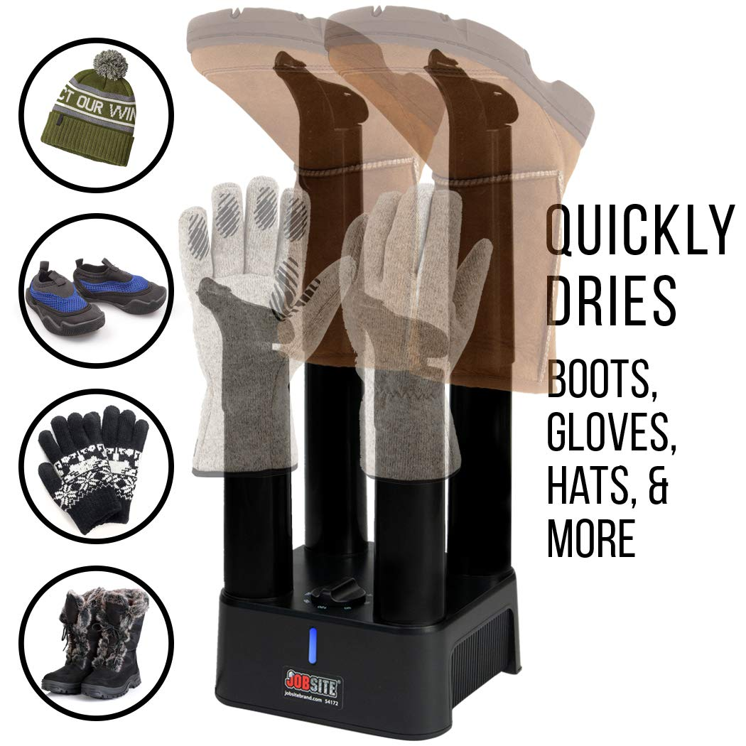 JobSite Mighty Dry Boot Dryer with Timer and Fan Fast Dry Prevent Mold /& Deodorize