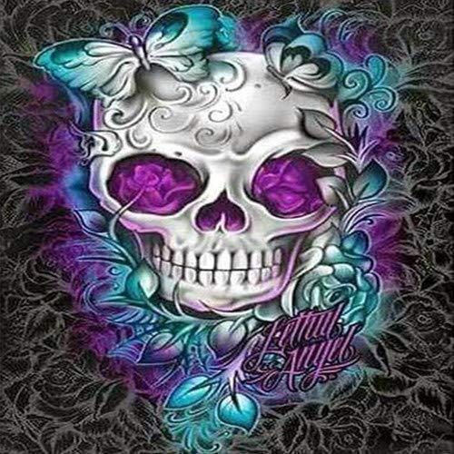 5D DIY Full Drill Diamond Painting Skull Cross Stitch Embroidery Mosaic Kit