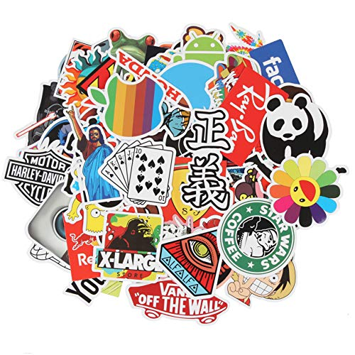 Sticker Decals - Waterproof 100 pcs Cool Sticker Pack Laptop Vinyl Stickers Ccar Sticker for Snowboard Motorcycle Bicycle Phone Mac Computer DIY Car Window Bumper Luggage Decal Graffiti Patches ()