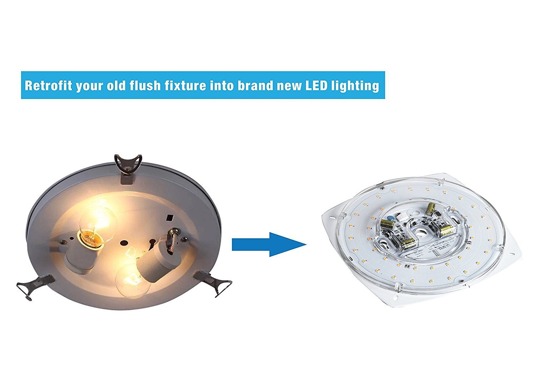 Silverlite 55 23w 5000k 1800lm 120v Cri80 Dimmable Led Light Aluminum Printed Circuit Board Pcb Making For Ceiling Lighting Engine Retrofit Kit Flush Fan Pendant