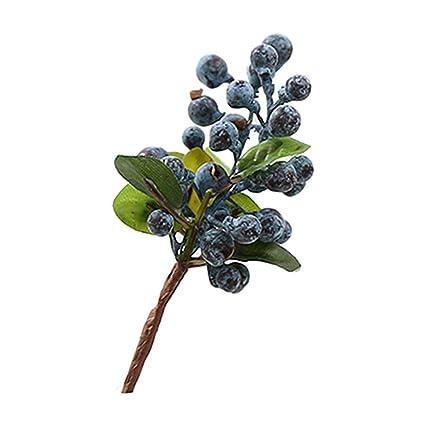 Artificial Fruit Berry Blueberry Decoration Bouquet Silk Fake Flower R//G//O
