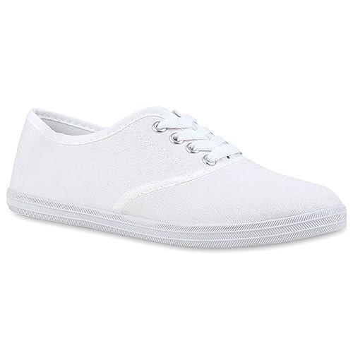 Übergrößen Damen Flandell Stiefelparadies Sneaker Herren Low Unisex q34LScR5Aj