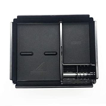 Caja de almacenamiento para reposabrazos de consola central interior