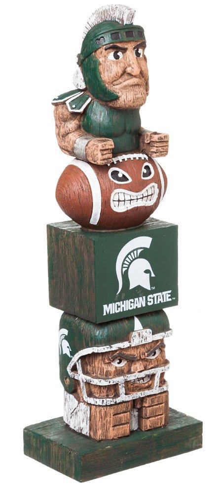 Team Sports America NCAA Michigan State Spartans Tiki Totem