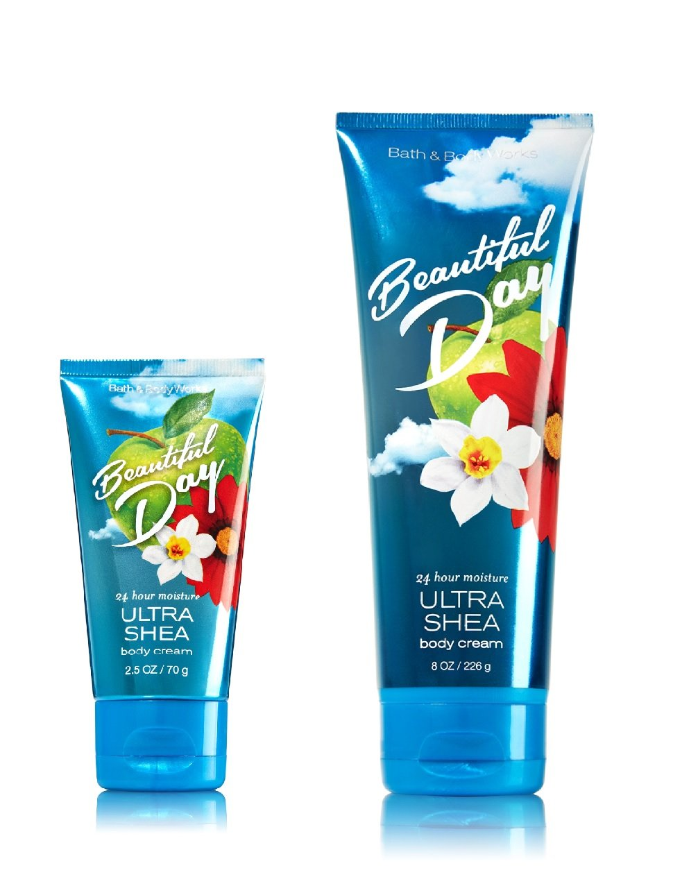Bath Body Works Cream Set, Full Size and Travel Size, Beautiful Day