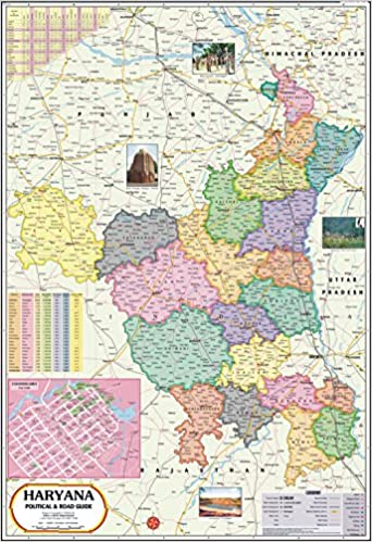 Haryana India Map.Buy Haryana Political Map Book Online At Low Prices In India