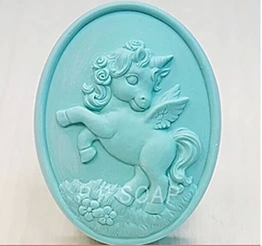 Molde de silicona M350 de unicornio para hacer jabón casero, de YL ...