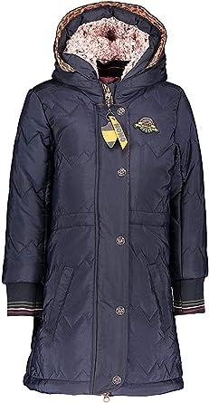 manteau d hiver bleu marine et marron