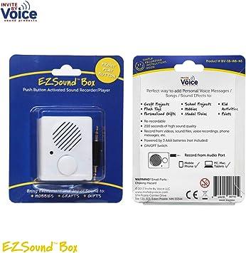 Fácil de Re-grabable caja de sonido para mensajes personales, canciones favoritas, contar cuentos, proyectos de ciencia, canciones de cuna, etc: Amazon.es: Electrónica
