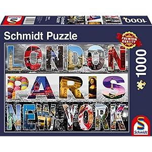 Schmidt Spiele 58348 Puzzle Da 1000 Pezzi Londra Parigi New York