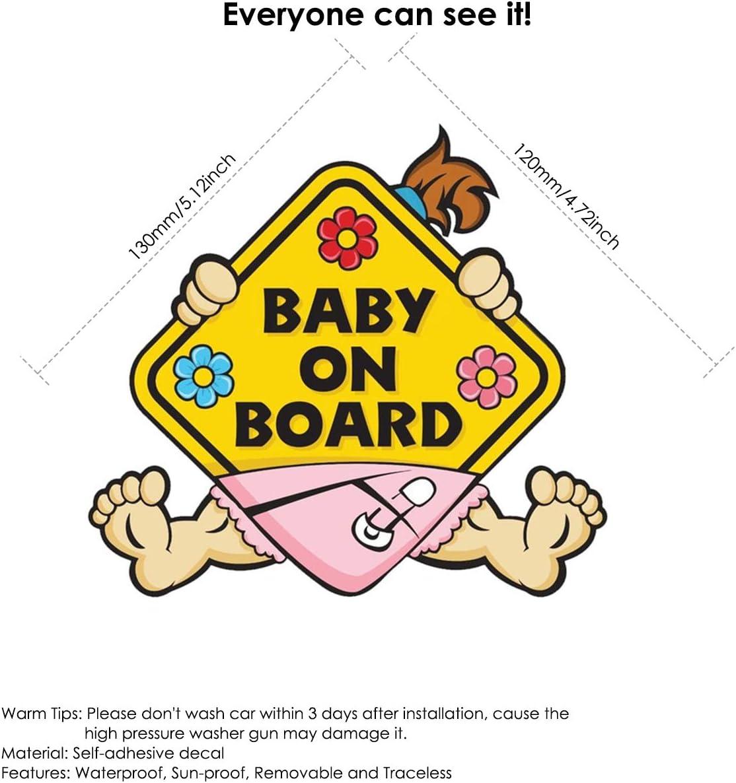 Ponacat Etiqueta de la Etiqueta del beb/é a Bordo Seguridad del ni/ño engomada