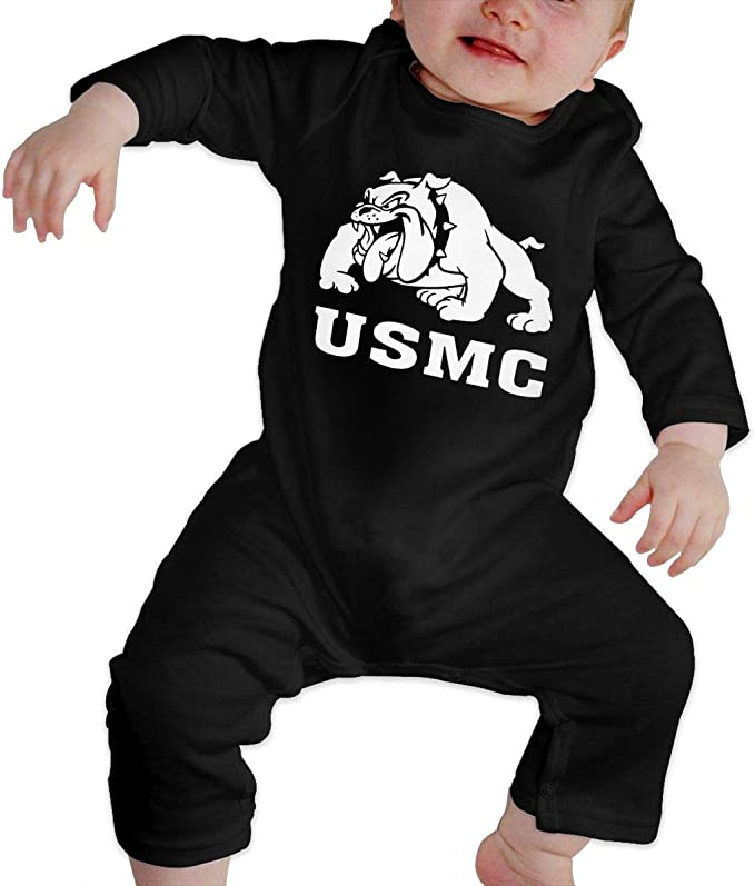 Bulldog Infant Baby Boys Girls Crawling Suit Short Sleeves Onesie Romper Jumpsuit