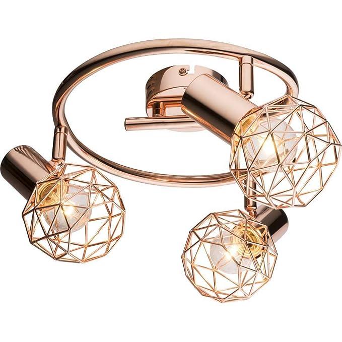 Decken Leuchte rund Alu Kugel Design Lampe Wohn Ess Schlaf Gäste Zimmer Licht