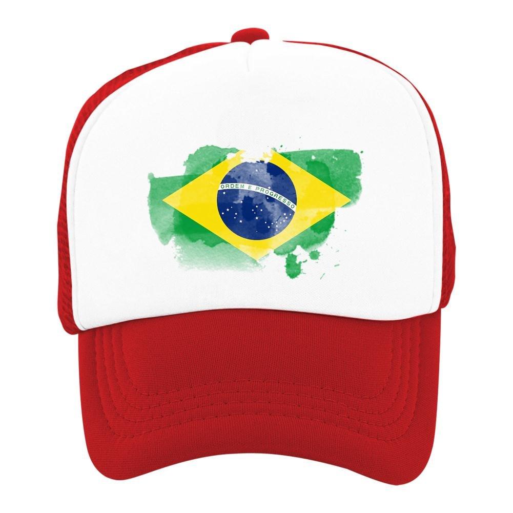 Kids Baseball Cap Brazil Flag World Cup Classic Mesh Outdoor Hat