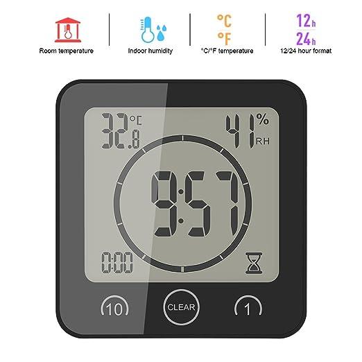 Alarma portátil del temporizador del control de tacto del reloj de la humedad de la temperatura