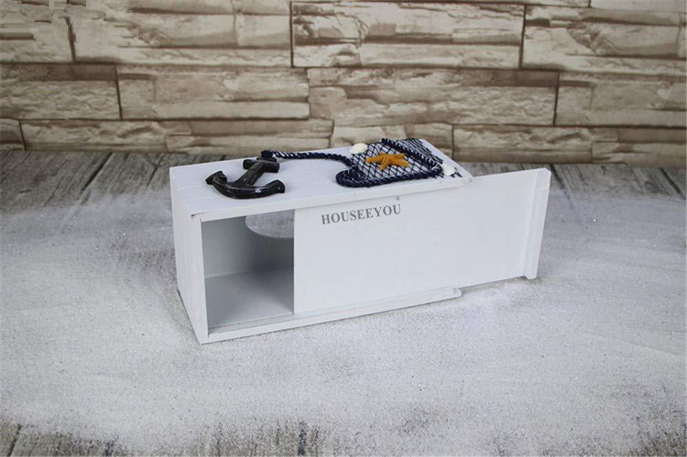 Lumanuby 1x Fliegend Seev/ögel Taschentuchspender f/ür Badezimmer Holz Mediterraner Stil Kleenexbox Rectangular f/ür Haushalt Restaurant B/üro size 24*12*9.5CM