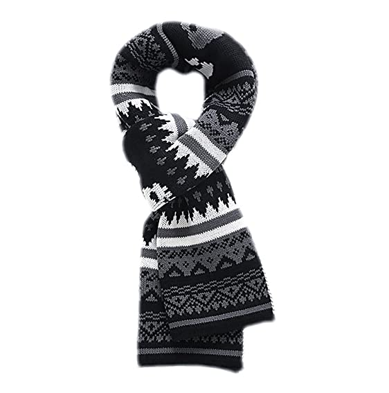 Ivyflair Unisex Winter Soft Warm Thick Skull Patterned Fair Isle
