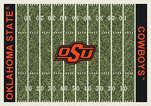 (American Floor Mats Oklahoma State Cowboys NCAA College Home Field Team Area Rug 5'4