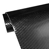 "4D Carbon Fiber Adhesive Car Vinyl Wrap Sticker with Air Release 11.5""x60""(Black)"