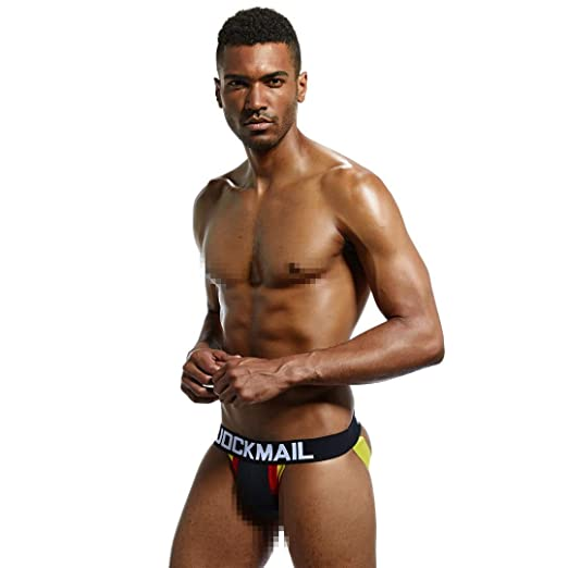 267cd1fbb393 Mens Briefs Breathable Triangle Jockstrap Underwear Thong Bulge Pouch Briefs  Zulmaliu (Black, M)