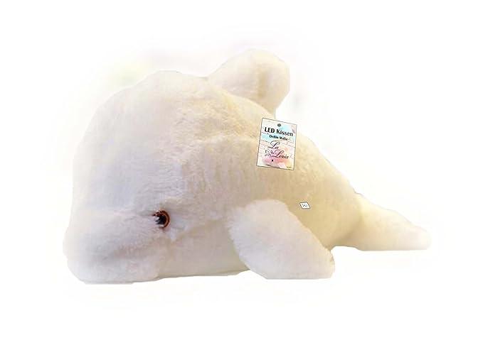 La loria led cuscino delfino malia luce di notte per bambini e
