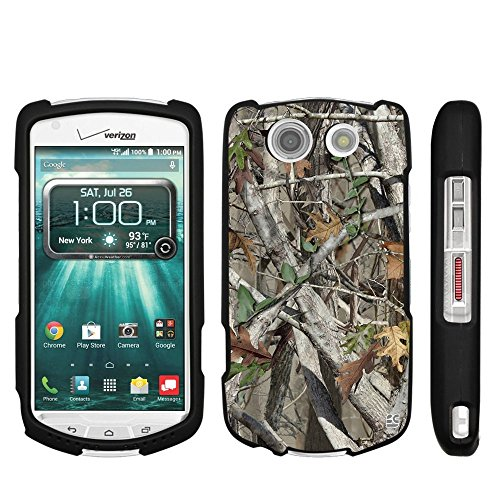 (Kyocera Brigadier E6782 (Verizon,Sprint,International) Beyond Cell Premium Protection Slim Light Weight 2 piece Snap On Non-Slip Matte Hard Shell Rubber Coated Rubberized Phone Case Cover With Design - Autumn Camouflage)