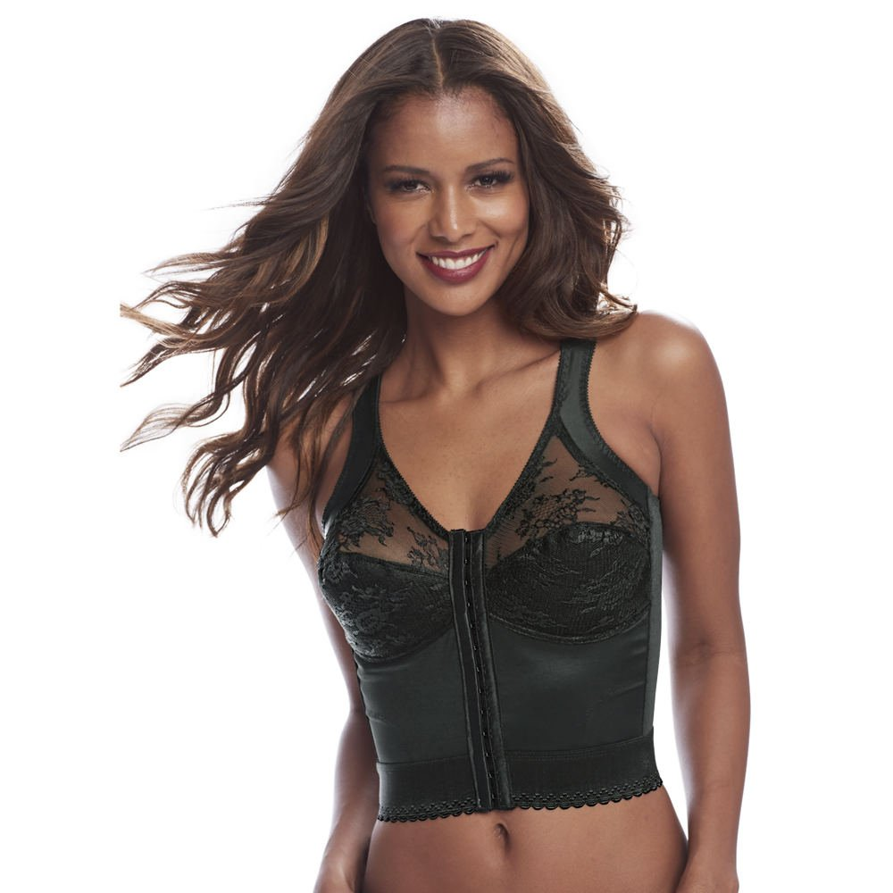 b076193bf41 Amazon.com  Cortland Intimates Long Line Back Support Soft Cup Bra  Clothing