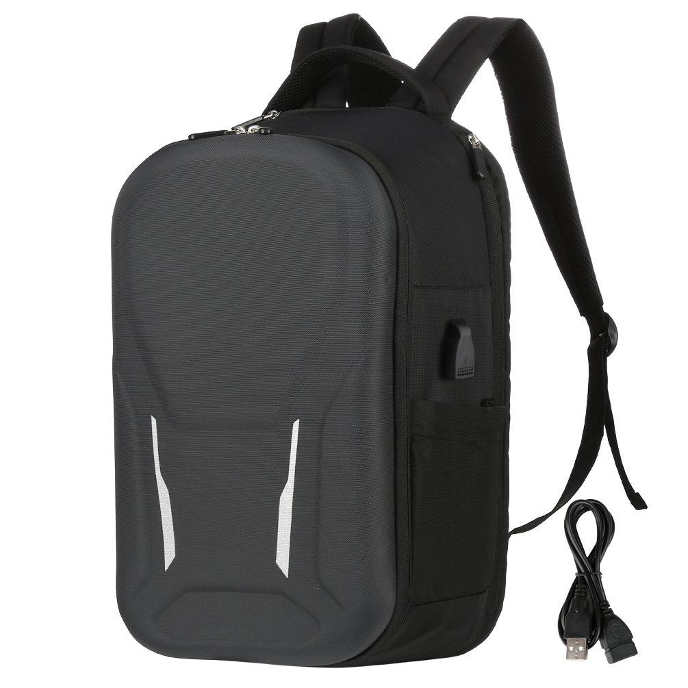 Vbiger Men Women Laptop Backpack Splash-free Shoulder Bag Large Capacity Business Daypack with Reflection Function, Fits 15.6'' Laptop