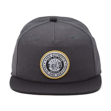 ecdc2be00f Vans Men s Bite The Hand U   Snapback Hat Asphalt One-Size VN0A36IG1O7
